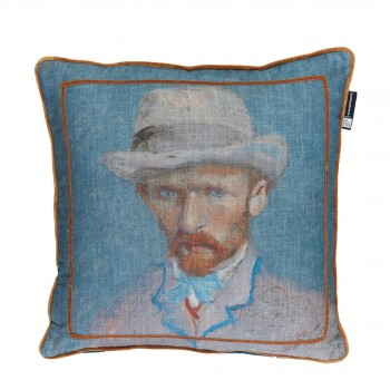 Van Gogh Sierkussen Zelf Portret, Blauw