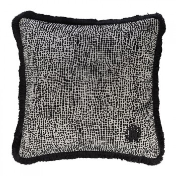 Roberto Cavalli Sierkussen Skin Velvet, Zwart
