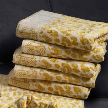 Roberto Cavalli Handdoek Snow Leopard, Gold