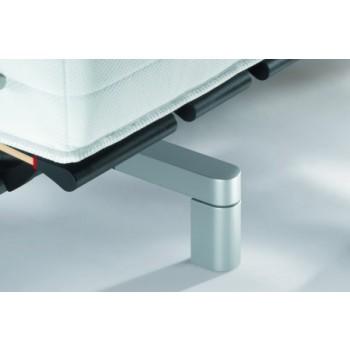 Swissflex Design Pootset Recht 20/21, 17 cm. aluminium