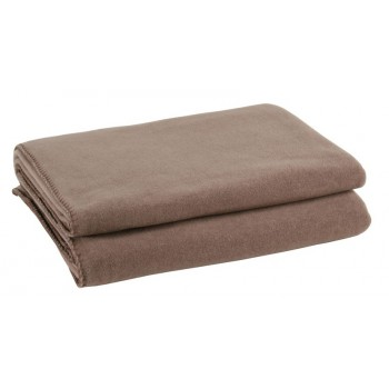 Zoeppritz Plaid Soft-Fleece, Taupe
