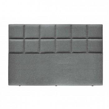 Tempur Achterwand Check Stof H:130 cm, Grey