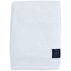 Grand Design Bedsprei Floral Quilt, White