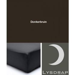 Lysdrap Hoeslaken Perkaal-Katoen, H:25, Chocolade