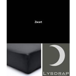 Lysdrap Hoeslaken Perkaal-Katoen, H:25, Zwart