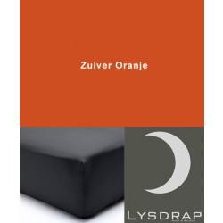Lysdrap Hoeslaken Satijn, H:20, Zuiver Oranje
