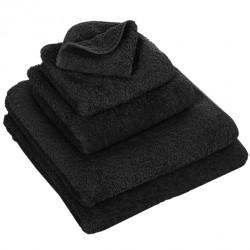 Abyss & Habid. Handdoek Super Pile, Zwart (990)